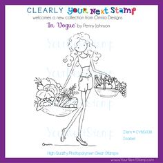 Isabel (clear set) [CYNS038] - USD11.95 : Your Next Stamp Clear Stamps, Vogue, Paper Crafts, Collection, Design, Tissue Paper Crafts, Paper Craft Work, Papercraft, Wrapping Paper Crafts