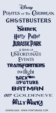 Free #Movie #Fonts from FontsBase.com #fonts #typography