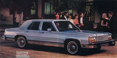 1986 Ford LTD Crown Victoria LX 4-Door Sedan Chevrolet Suburban, Ford Ltd, Grand Marquis, Ford Lincoln Mercury, American Classic Cars, Old Fords, Ford Fairlane, Car Advertising, Car Ford