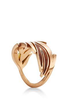 Leaf Ring Inlay by Marc Alary for Preorder on Moda Operandi