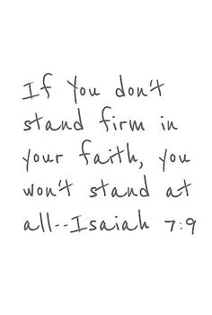 Stand firm!