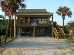 Oak Island North Carolina Vacation Rentals - Tropical Breeze Oceanview Beach House-Dog Friendly