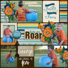 Layout using {I Am Fearless} Digital Scrapbook Collab by Digilicious Design and…