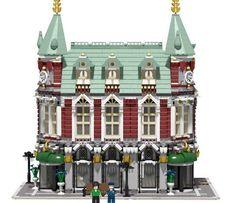 Clockwork Station. More at Archbrick.com #lego #legoarchitecture #legobuilding #legobuild #legomoc