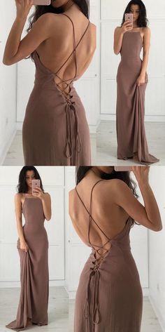 elegant 2018 long prom dress, brown long prom dress graduation dress, formal evening dress party dress