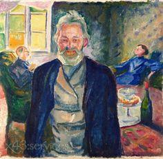 Edvard Munch - Alter Mann in einem Innenraum - Old Man in an Interior.