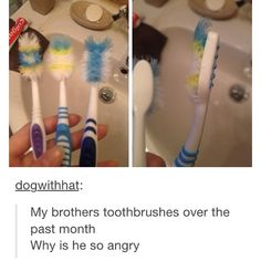 Why does this look like my brothers toothbrush?