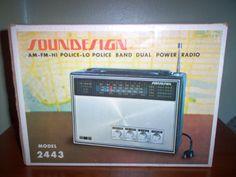 RARE Vintage 1970s Soundesign Realtone 2443 Am FM VHF PSB Hi Lo Portable Radio | eBay
