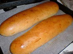 Chlebíčková veka z domácí pekárny | sRecepty.CZ Hot Dog Buns, Hot Dogs, Sandwiches, Toast, Bread, Cooking, Cake, Recipes, Food