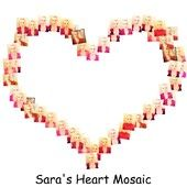 Sara's Heart Mosaic. The portrait shows Sara Adeline Mazzolini in France. Sara's self-portrait is the heart-shaped collage. Photo shared via Share.Pho.to