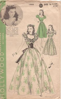 Hollywood Pattern #1988. Scarlett!