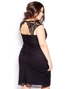 New Noir Lace Cap Sleeve Dress