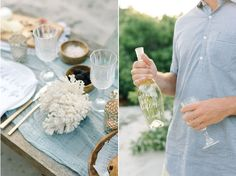 Elegant seaside glamping elements in New Jersey! Styling by Reveriemade, Photo by Michelle Lange Photography