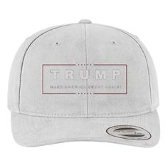 Trump Make America Great Again Brushed Embroidered Cotton Twill Hat