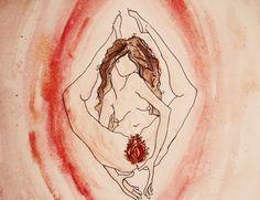 Sheela-Na-Gig Art Print by Erin Darcy