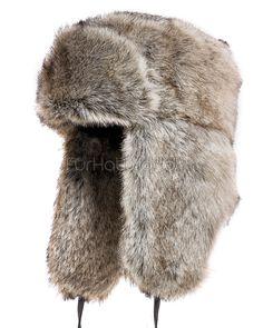 Jakewood Brown Russian Military Style Aviator Trapper Shearling Sheepskin Hat XL