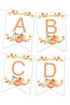 Fall Foliage Printable Banner