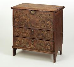 "Chest-over-drawers. Made by Robert Crosman (1707–99), Taunton, Massachusetts; dated 1742. White pine, red oak, chestnut. Height: 24 3/8"" (62cm). 1954.510"