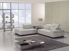 Luxury Decor Living Room To White Leather Sectional Sofa Ideas With Grey Large Rugs Under Modern Square Table And Marble Floor