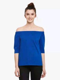 Cobalt Blue Off Shoulder Solid Top Off Shoulder Tops, Off Shoulder Blouse, Online Shopping For Women, Womens Fashion Online, Cobalt Blue, Nice Tops, Sustainable Fashion, Clothes For Women, Lady
