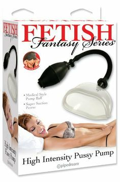 Pipedreams Products Fetish Fantasy Pussy Pump by Pipedreams Products. $22.94. With each squeeze of the medical-style pump ball, the high-intensity super suction stimulates your labia and vulva.. To relieve the pressure, simply push the quick-release valve and you?re ready for fun!. Flared and molded to fit snugly over your pussy, this is just what you?ve been looking for to achieve full, beautiful lips. Pump up the passion and watch your pussy swell with pleasure!. Save 28%!