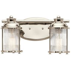 Purchase The Nautical Brushed Nickel Caparros Bath Lights From Kichler Today At Lightingconnection 45133ni Lighting Pinterest