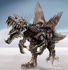 Transformers : Age of Extinction — Gregory Titus Illustration Transformers Cybertron, Transformers Collection, Transformers Autobots, Animal Robot, Foto Top, Spinosaurus, Gi Joe, Concept Art, Pokemon