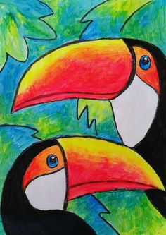 Art Discover August 2016 Birds of Brazil Flouro paint direct application Oil Pastel Paintings Oil Pastel Art Oil Pastel Drawings Oil Pastels Easy Canvas Painting Painting For Kids Art Drawings For Kids Easy Drawings Wal Art Pastel Artwork, Oil Pastel Paintings, Oil Pastel Art, Oil Pastel Drawings, Art Drawings For Kids, Easy Drawings, Easy Canvas Painting, Painting & Drawing, Wal Art