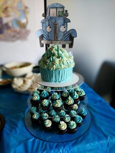 Little Blue Truck Cake and Cupckes