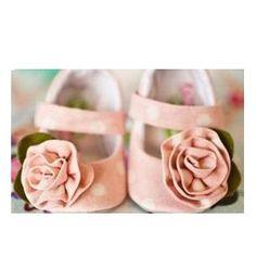 Chaussures ballerines bébé rose clair