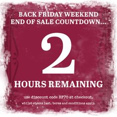 ***2 hours remaining*** Black Friday Weekend Sale. 70% off our full price range. This weekend only!!! Use discount code BF70 at the checkout. #blackfriday #sale #onebutton #jewellery #scarves #accessories