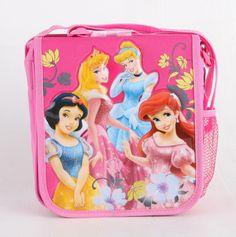 The New Disney Princess Insulated Kids Lunch Bag Girls Snack Lunch Box Bag Pink #DisneyPrincess
