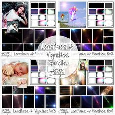 NBK-Design - the Shop Lensflares & Vignettes Bundle Great tool to finalize your digital scrapbook layout.