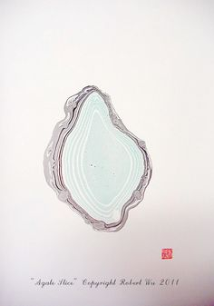"Agate Slice- Original Hand Marbled Paper, Marbling Art , The Original ""Marbled Graphics"" by Robert Wu. $38.00, via Etsy."