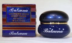 BATSUNA WHITENING EXCELLENT NIGHT FACE CREAM 15ML by Batsuna. $16.99. FRESH BATSUNA WHITENING NIGHT CREAM FOR FACE  MODEL BTN-003  BRAND BATSUNA   EFFICIENT TREATMENT CREAM WHICH GRADUALLY FADES OUT  USES: AGE SPOTS, BROWN SKIN MARKS, DARK PIGMENTATION SPOTS, FRECKES, UNEVEN SKIN TONES  NET WT 15 ML