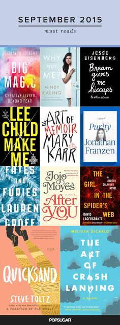 The best way to get in the back-to-school spirit is with a shelf piled with new books, so we're taking a look at all the must-read titles coming out in September.