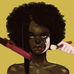"""rawdibunu: """" A series for an assignment on social issues. I chose to focus on blackface in fashion and the double standards of beauty women of colour face. """" on social issues Black Love Art, Black Girl Art, Art Girl, Black Child, Art Sketches, Art Drawings, Drawing Art, Poster Design, Political Art"""