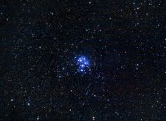By: 不動明王 Pleiades (M45) taken by Canon G1X DSO by Compact DC experiment #02 5-9,Sep,2013 ‧ Chingjing, TAIWAN  Camera : Canon PowerShot G1X Telescope/Lens : 112mm f/5.8 built-in (135eqv) Filter : none ISO : 3200 Tracking Mount : TP-1 Autoguide : none  Total Exposure Time : 172mins w Dark Frames, Bias Frames process w DSS,PI, PS5