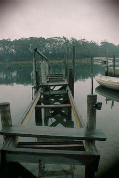 sinister dock on the river, tasmania | Tumblr