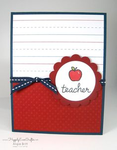 End of school year and teachers appreciation week. Perfect for any teacher year round.  https://www.etsy.com/listing/232243436/teacher-thank-you-card-teacher
