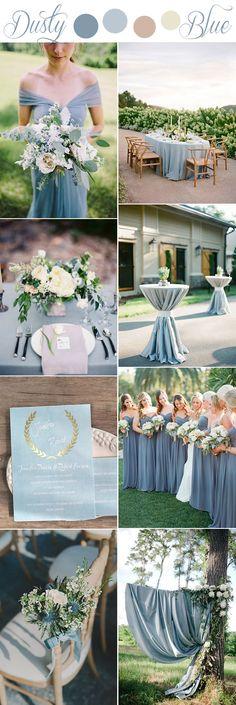 romantic softest dusty blue rustic wedding color ideas