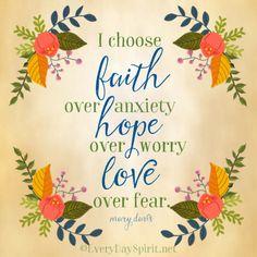 I choose love over fear ~ #faith #love For the app of beautiful wallpapers ~ www.everydayspirit.net xo