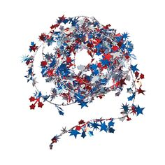 Patriotic Wire Star Garland - OrientalTrading.com