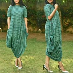 Dresses for kazari Kurta Designs, Kurti Designs Party Wear, One Piece Dress, The Dress, Indian Designer Outfits, Designer Dresses, Frock Fashion, Fashion Outfits, Drape Dress Pattern