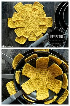 Crochet Home, Love Crochet, Crochet Gifts, Diy Crochet, Crochet Flower Patterns, Crochet Designs, Crochet Flowers, Knitting Patterns, Knitting Projects