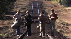 River Phoenix, Corey Feldman, Wil Wheaton and Jerry O'Connell in Stand by Me