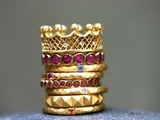 Cool Stacking Bands  Cathy Waterman  Ylang23 Unique Designer Bridal Collection