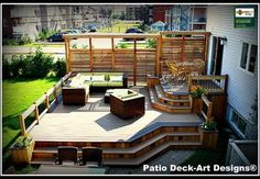 Patio deck designs backyards how to build Ideas Small Deck Patio, Diy Deck, Backyard Decks, Front Deck, Small Deck Designs, Patio Deck Designs, Patio Ideas For Dogs, Pool Ideas, Cool Deck
