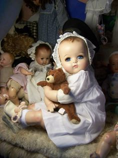 "26"" Huge Ideal Baby Beautiful Composition & Cloth Doll"