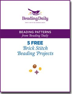 This FREE guide on brick stitch patterns shows you how to brick stitch & create beautiful beaded jewelry design no matter your skill level. Start today!